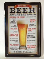 Yes Antique Imitation Europe Beer paiting Tin Sign Bar pub home Wall Decor Retro Metal Art Poster AL001