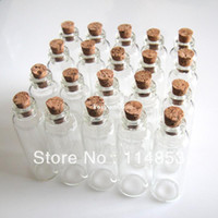 Wholesale x50mm Tiny Small Clear Cork Glass Bottles Vials ml For Wedding Holiday Decoration Christmas Gifts
