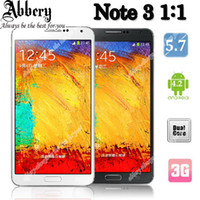 WCDMA Czech MTK With Logo 5.7inch Note3 1:1 Smartphone Note 3 N9000 N900 MTK6572 Dual Core Single Sim Spen Air Gesture WiFi Unlocked 3G Compass DHL Shipping