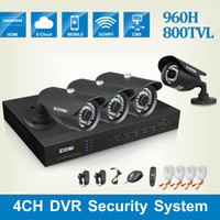 Wholesale ZOSI HDMI CH FULL D1 DVR KIT x HD TVL IR LED Up to ft CMOS CCTV CAMERA security system surveillance recorder CCTV SYSTEM
