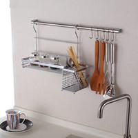 Wholesale IKEA Style Kitchen Shelf Storage Rack Including Seasoning Rack Chopstick Holder cm Hanging Rod and Hooks