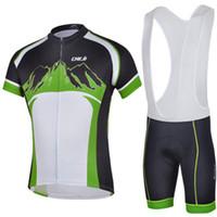 Wholesale 2014 new Cycling Clothing Bike Jerseys green color cheji mountain bike clothing outdoor sport cycling bib shorts men bike wear