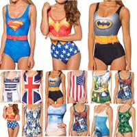 One Pieces batman swimsuit - Sexy Bikini S Bodysuit Skeleton Skull Batman Joker The Batman Swimsuit Digital Printing Swimwear Women Beach Set Hot Selling