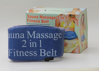 Cheap Sauna Therapy Slimming Belts Best PVC  2 in 1 Fittness Belt