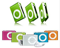 Wholesale Mini Clip Mp3 player with earphones usb cables retail box support Micro SD TF card GB epacket shipping