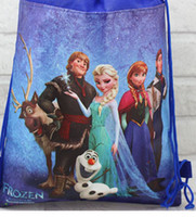 Wholesale by DHL New Arrival Frozen Drawstring Bags Two sided Bags Frozen Children School Backpack