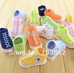 Wholesale HOT new converse dimensional socks baby socks newborn child super cute socks for children pair boxes
