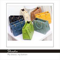 Wholesale New Korean totes leather famous brand luxury retro women messenger bags women s wallets summer candy colors children handbag diamond
