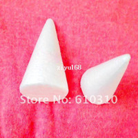 Wholesale Free shiping cm natural white Styrofoam Cones Ornaments Balls for handmade diy crafts