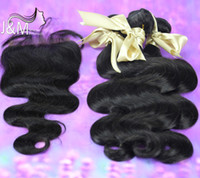 Wholesale Piece Free Part or free Part or Way Part Lace Closure With Hair Bundles Malaysian Virgin Hair Extension Body Wave