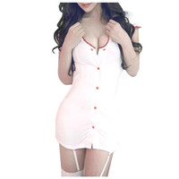 Wholesale S5Q Sexy Hot Women s Nurse Uniform Costume Cosplay Lingerie Party Clubwear White AAADIC