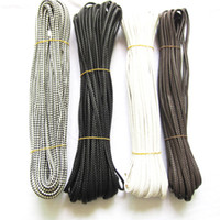 Wholesale Jewelry DIY Meters mm Braided Flat PU Leather Cord Necklace amp Bracelet Bolo Cord String Rope ZO70