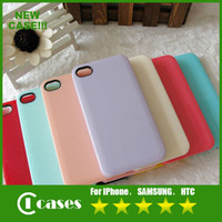 Wholesale On Sale Colorful PC Hard Case For iPhone S Samsung S3 S4 HTC Candy Color Rhinestone DIY Blank Shell Phone Accessories Via DHL