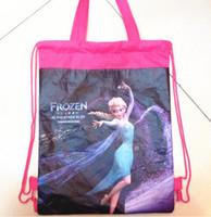 Wholesale 2014 new Frozen children school bags high quality Cartoon beach backpack kids girls boys bag non woven fabric kids best gift
