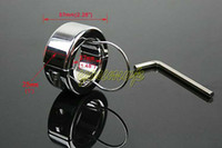 Male Chastity Cage  stainless steel ball stretcher Chastity Male adult sex toys