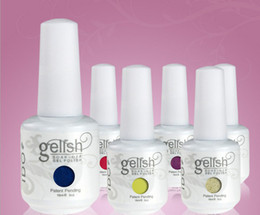 Wholesale Gelish Nail Polish Soak Off UV LED Gel Solid Pure UV Gel Nail Art Tips Design Extension Nails DIY Sets One Step Gel Nail Polish Colors