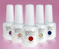 Wholesale New Gelish Nail Polish Soak Off UV LED Gel Solid Pure UV Gel Nail Art Tips Design Extension Nails DIY Sets Gel Nail Polish Colors ml