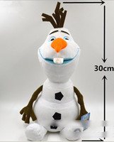 Wholesale 8 off sale Snow treasure Olaf plush toys cm Big adventure of snow and ice series toys frozen elsa Anna Retail DROP SHIPPING ZF