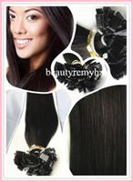 Brazilian Hair #1b#2#4#60#613   Factory Price Flat-tip Hair Extensions 100% Vgirgin Remy Human Hair #1b#2#4#60#613 In Stock 18''--28'' 3pcs lot free shipping by DHL