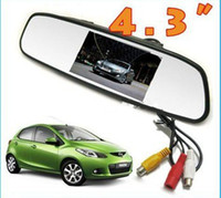 Wholesale 4 Inch Anti Glare Car Camera Car Rearview Mirror Display Visual Reversing System Monitor Contected Rearview Camera