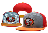 Wholesale 49ers Snapback Reflective Caps Football Caps Flat Caps Sports Caps Adjustable Snapback Hip Hop Hats Cool Streetwears Color Stitching Caps
