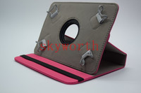 Wholesale Universal rotating case cover Cloth skin shell for inch tablet MID Q88 A13 Galaxy tab T210 P3200 P3100 Stand