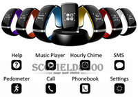 Cheap L12S L12 OLED Touch screen Bluetooth 3.0 Bracelet Wrist Watch Smart Watch for IOS iPhone Samsung and Android Phone Call Answer SMS Reminding