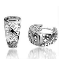 Wholesale Bird Nest Design Jewellery Fashion Lady s Sterling silver Hoop Earrings gift