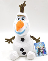 Wholesale 8 off Doll snow treasure Olaf plush toys cm Cartoon movie frozen doll Children s toys Retail frozen elsa Anna DROP SHIPPING ZF