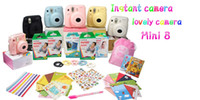 Wholesale HOT Fuji polaroid mini camera film instax mini8 bundle pink red white avaialable black yellow pink blue white hot selling