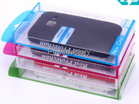 Wholesale Universal PVC Retail package Packaging Plastic boxes for cell phone Case iphone S S C Galaxy S3 mini S4 mini case Package mix color