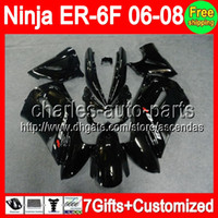 ALL Black 7gifts+ Kit For KAWASAKI NINJA 650R ER- 6F 06- 08 NIN...