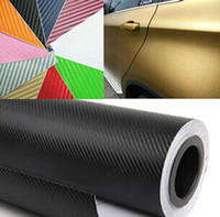 Wholesale High Quailty Colorful D Carbon Fiber Vinyl Wrap Air Drain Hot Selling Car Sticker Carbon Fiber Sheet mx30m Colors Free DHL Shipping
