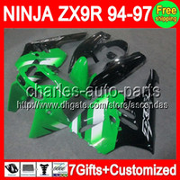7gifts+ Kit For KAWASAKI NINJA Factory green ZX9R 94- 97 ZX 9R...