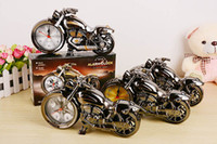 Quartz Unisex  5pcs new fashion Quartz movement Motorcycle alarm clock Creative gift clock