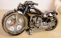 Quartz Unisex  100pcs new fashion Quartz movement Motorcycle alarm clock Creative gift clock