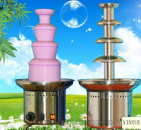 Wholesale STAINLESS STEAL tier cm commercial chocolate fountain fondue wedding waterfall manufacturer