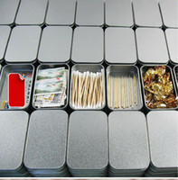 Sundries tin cans - 10Pcs Silver Rectangle Iron Tin Storage Box Trinket Candy Jewelry Case Pill Box Metal Tea Click Cans Tools Free Ship