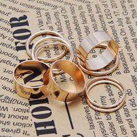 Bone Women Fashion 9 Pcs Punk Gold Tone Wide Thin Band Ring Knuckle Above Midi Rings Set Unisex #5506