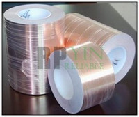 Wholesale 28mm meters Thickness Single Sided Conductive Adhesve Copper Foil Tape Sticky for EMC EMI Shielding