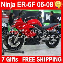 Wholesale 7gifts Red black For KAWASAKI ER F NINJA R Customize T582 Factory red blk NINJA650 ER F ER6F Fairing