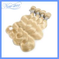 Body Wave 100% virgin Human Hair Hair Extension aliexpress best selling New Star bleach Blonde color 613 Body Wave Brazilian Virgin Human Hair weave wavy 4pcs mixed lengths