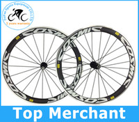 Wholesale Alloy brake surface cosmic SL mavic mm rim full carbon fiber road bike wheels wheelset bike wheels c racing bicycle bike parts