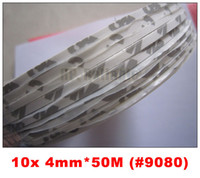 3M Acrylic No Printing 10x 4mm*50M 3M 9080 Double Sided Adhesive Tape for Foam Rubber LED Strip Auto Bumpers Strip Electrical Panel Joint