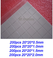 Wholesale Combined cm cm mm Silicone Thermal Pads for LED Brand Laptop HP Dell IBM Asus GPU Heatsink