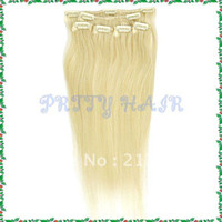 Brazilian Hair Ombre Color Straight Wholesale 3pcs lot,Brazilian Remy Clip in Straight Human Hair Extensions,16inch Color #613, 7183