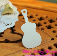 Wholesale Guitar Design x4cm String Included White Blank price Hang tag Retro White Gift tag Paper Label Cards