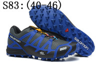 Wholesale 2014 Zapatillas Salomons Speedcross Running Shoes Mens Athletic shoe solomon salomone salamon run Sport Shoes
