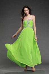 Wholesale 2014 Sexy Strapless Sleeveless Floor Length Lace Up Chiffon Formal Party Evening Dress Long Prom Dresses by