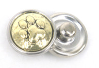 Wholesale Mini cm bear s paw charm DIY snap button chunks metal charms
